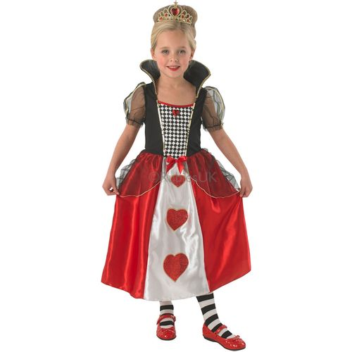 Childs Queen Of Hearts Fancy Dress Costume Age 3-4 Years