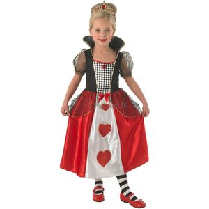 Childs Queen Of Hearts Costume Age 5-6 Years