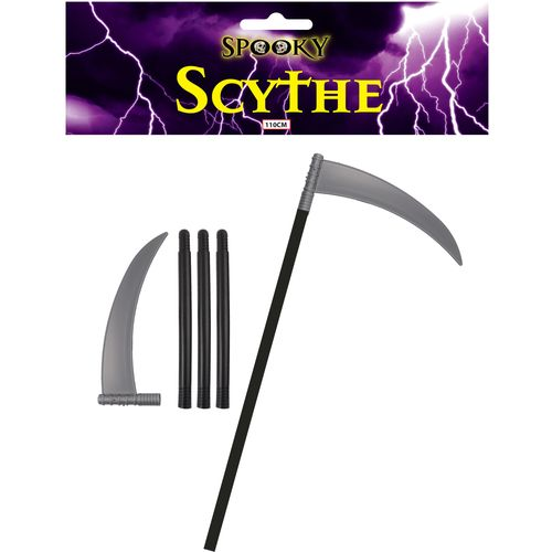 Plastic Scythe 4Piece Total Length Approx 110cm Halloween & Fancy Dress Accessory
