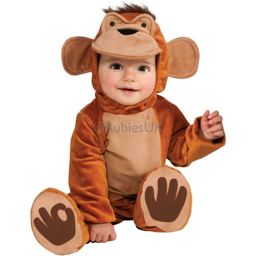 Babies Funky Monkey Onesie Fancy Dress Costume Age 12-18 Months