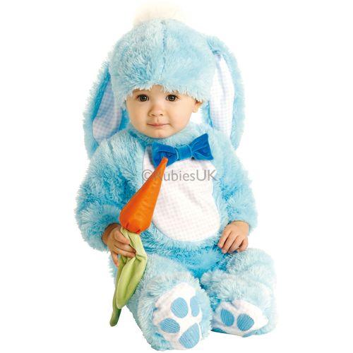 Baby Boy Blue Rabbit Onesie Fancy Dress Costume Age 6-12 Months
