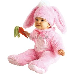 Babies Rabbit Onesie (Pink) Age 12-18 Months