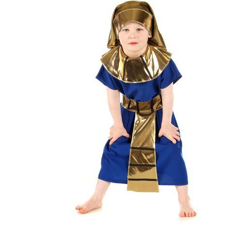 Childs Egyptian Pharoah Fancy Dress Costume Age 7-9 Years