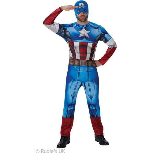 Classic Captain America Marvel Universe Official Licensed Fancy Dress Costume Size XL
