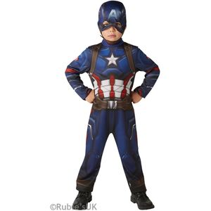 Childs Captain America Civil War Costume Age 7-8 Years