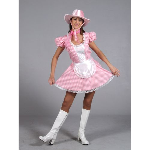 Pink Cowgirl Fancy Dress Costume Outfit Ex Hire Quality