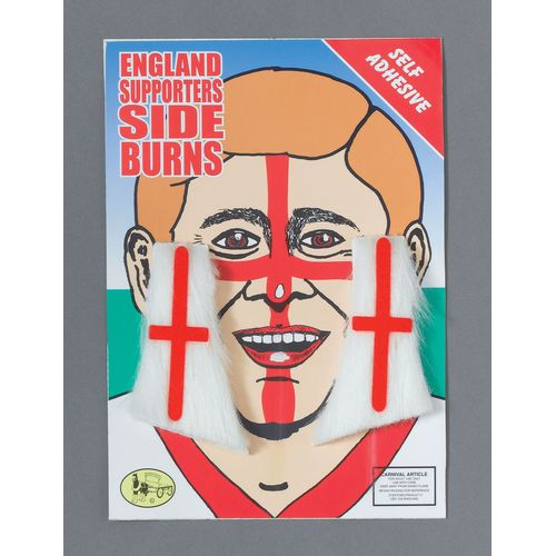 England St George Cross Sideburns Fancy Dress Costume Accessory