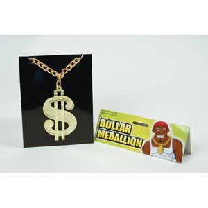 70s/80s Rapper Dollar Sign Medallion
