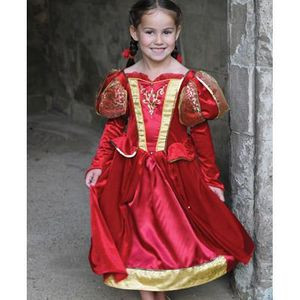 Childs Medieval Queen Costume (Red) Age 6-8 Years