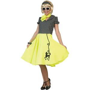 Fifties Poodle Dress (Yellow & Black) Size 10-14