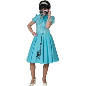 Fifties Poodle Dress (Blue) Size 10-14