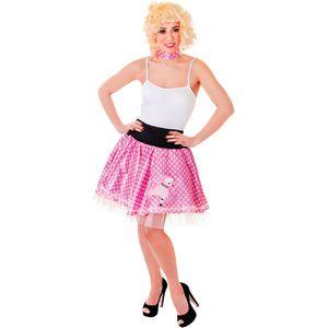 1950s Poodle Skirt & Neck Scarf (Pink) UK 10-14