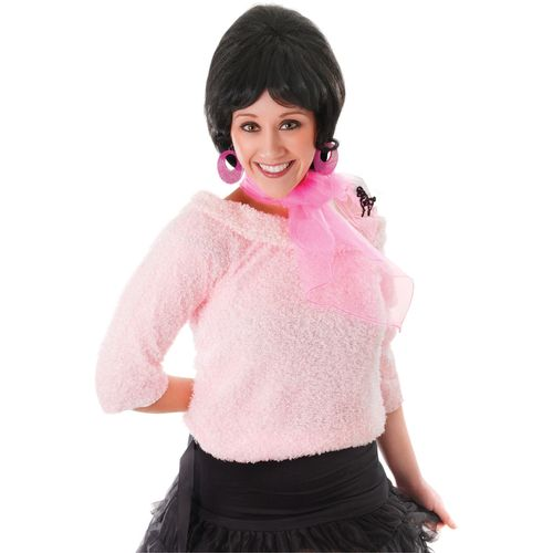 1950`s Pink Poodle Neck Scarf Fancy Dress Costume Accessory