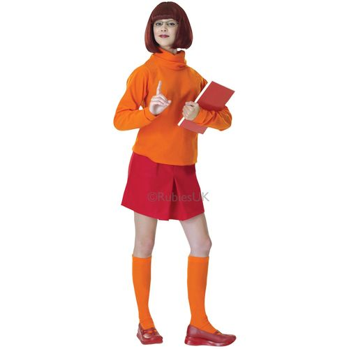 Velma Scooby Doo Fancy Dress Costume Size 12