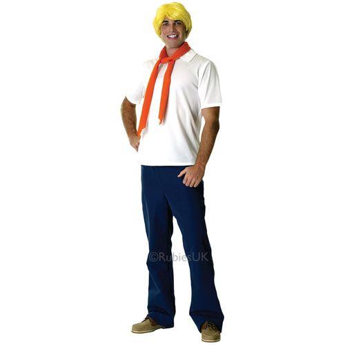 Fred Scooby Doo Fancy Dress Costume Size M-L