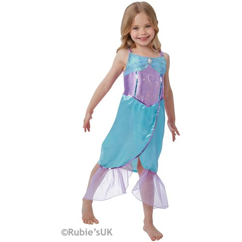 Childs Blue Mermaid Fancy Dress Costume Age 7-8 Years
