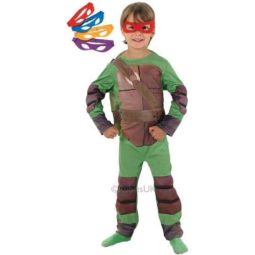 Childs Teenage Mutant Ninja Turtles Superhero Fancy Dress Costume Age 7-8 Years
