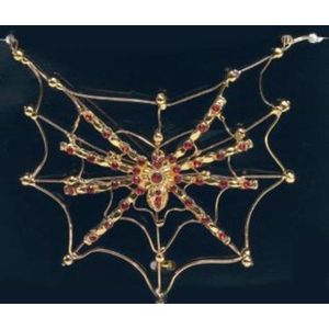 Spider On Web Necklace