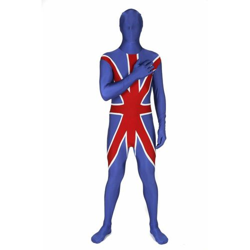 Union Jack Official Morphsuit Fancy Dress Costume Size Large