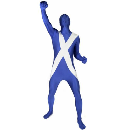 Scotland Flag Morphsuit Fancy Dress Euro Football World Cup Fan Supporters