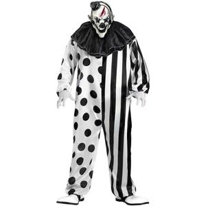 Killer Clown Costume (Black & White) Size XL