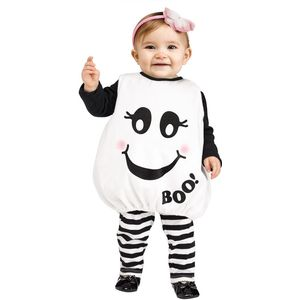 Halloween Baby Boo Ghost Tunic Toddler Age 12-24 Months