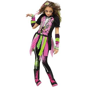 Neon Zombie Girl Teen Size Costume Age 12 -14