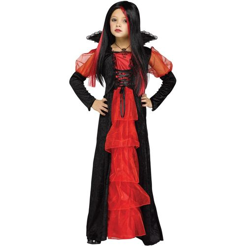 Childs Vampire Girl Halloween Fancy Dress Costume Teen Size Age 12-14 Years
