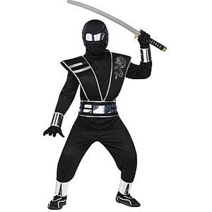 Childs Black Mirror Ninja Costume Age 4-6 Years