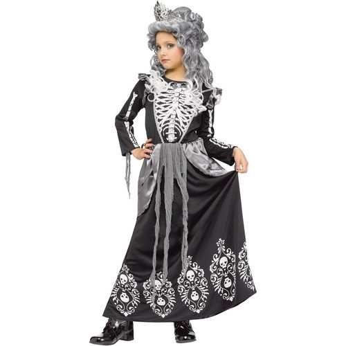 Childs Skeleton Queen Halloween Fancy Dress Costume Age 4-6 Years