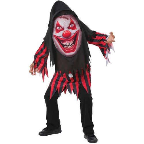 Childs Clown Mad Creeper Halloween Fancy Costume Age 7-9 Years