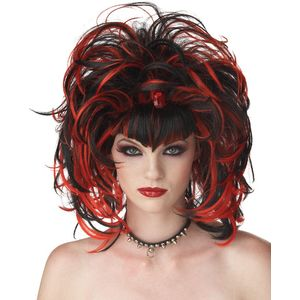 Evil Sorceress Wig (Black & Red)