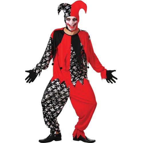 Evil Jester Halloween Fancy Dress Costume Size M-XL