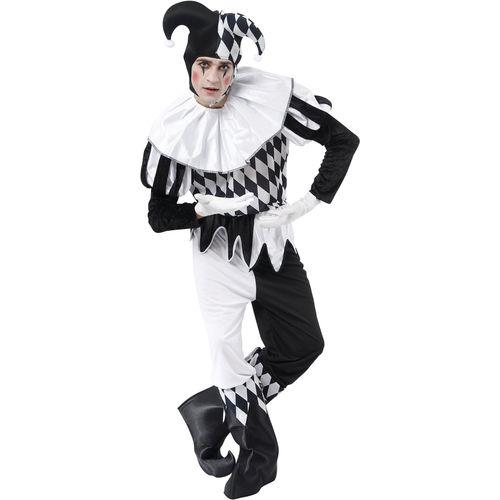Harlequin Jester Halloween Fancy Dress Costume Size L-XL