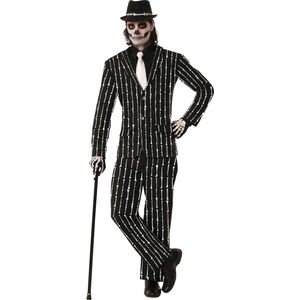 Bone Pin Stripe Gangster Halloween Suit Size M-L