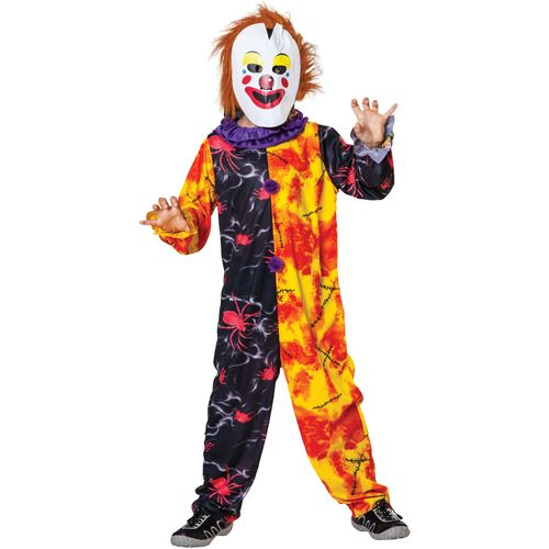 Childs Horror Clown Boy Halloween Fancy Dress Costume Age 7-9 Years