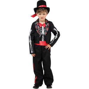 Childs Day of the Dead Boy Costume Age 8 Years