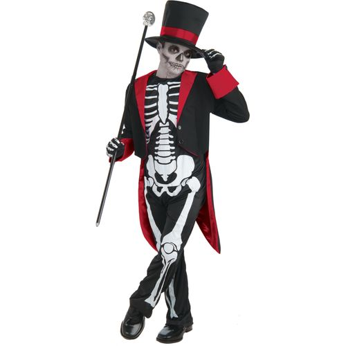 Childs Mr Bone Jangles Halloween Fancy Dress Costume Age 8 Years
