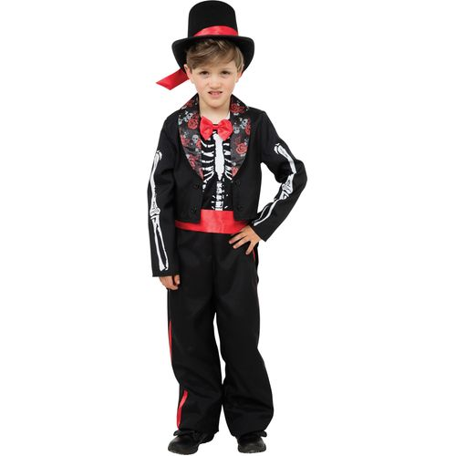 Childs Day of the Dead Boy Halloween Fancy Dress Costume Age 10 Years