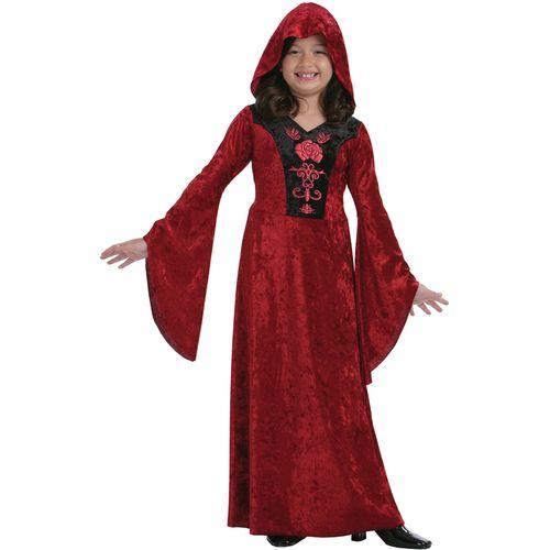 Childs Gothic Vampiress Halloween Fancy Dress Costume Age 7-9 Years