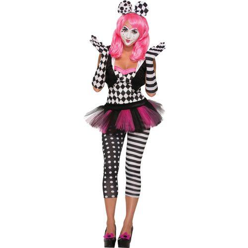 Harlequin Clown Opera Gloves Halloween Fancy Dress Costume Accesory