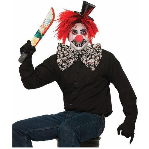 Evil Clown Jumbo Bow Tie Halloween Fancy Dress Costume Accessory