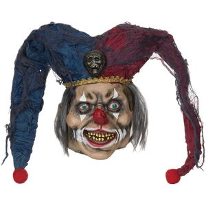 Deranged Jester Latex Overhead Mask