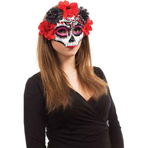 Day of the Dead Darling Mask Glasses Frame Halloween Fancy Dress Costume Accessory