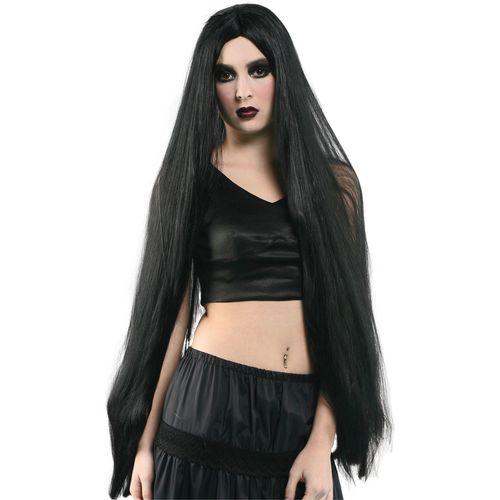"""Long Halloween Black Wig 40""""  Fancy Dress Costume Accessory"""