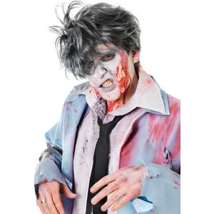 Zombie Man Spikey Wig (Grey)