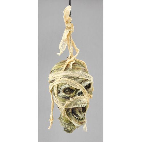 Mummy Cut Off Hanging Head Halloween Party Room Decoration