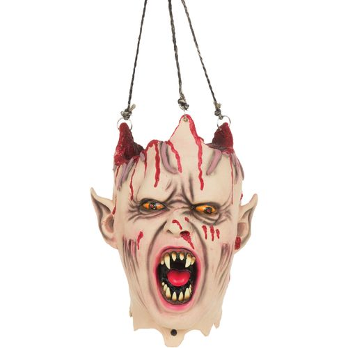 Vampire Hanging Head With Sound & Lights Halloween Party Room Decoration