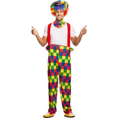 Rainbow Clown Fancy Dress Costume Size M-L