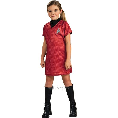 Childs Uhura Official Star Trek Fancy Dress Costume Age 3-4 Years